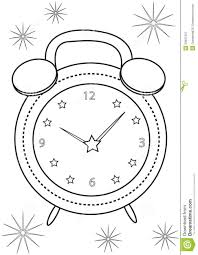 alarm clock coloring page stock illustration image 50697437