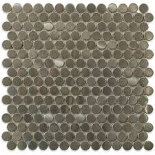 Best 25 Penny Round Tiles by Splashback Tile Silver Penny Round 12 In X 12 In X 8 Mm