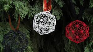 last to trim the tree with 3d printed ornaments