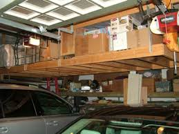 Building Wooden Garage Storage Shelves by Hanging Garage Storage Shelves Plans Storage Decorations