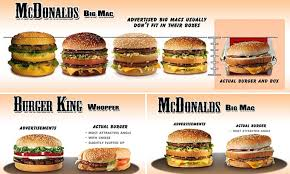 fast cuisine big mac how fast food outlets their food and how they really look