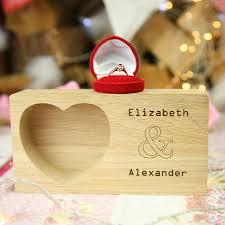wedding gift personalised oak wedding gift ring storage tray