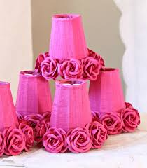 fuschia chandelier pink fuchsia chandelier shade with roses