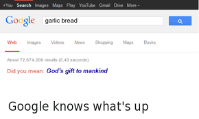 Google Did You Mean Meme - you search images maps play youtube gmail drive more google garlic