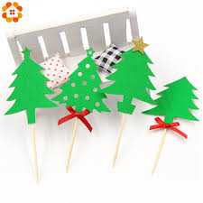 new 8pcs set tree cupcake toppers cake topper picks for