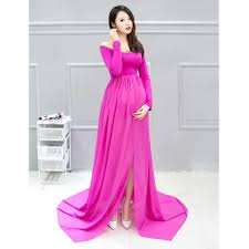 2017 maternity dress for photo shoot long sleeve maternity gown