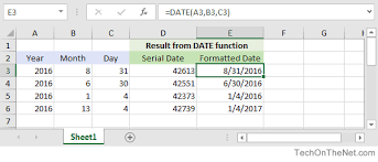 format date in excel 2007 ms excel how to use the date function ws
