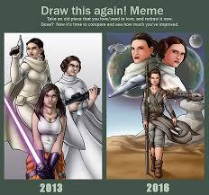 Star Wars Love Meme - draw this again meme star wars generations by travisthegeek on