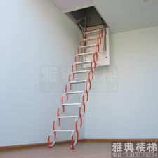 attic stairs steel telescopic ladder household indoor buildings