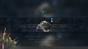 youtube gaming channel art download free psd youtube