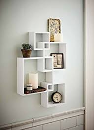 Wall Shelves With Drawers Amazon Com Shelving Solution Intersecting Decorative White Color