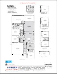 Floor Plan Company by Catania Sierra Montana Surprise Arizona D R Horton
