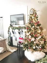 White Christmas House Decor by Plum Prettya Farmhouse Christmas Bedroom U2014