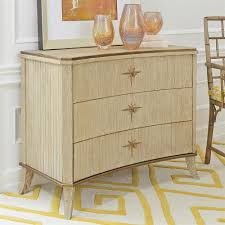 White Oak Bedroom Chest Of Drawers Atticus Coastal Beach Brass Stars White Oak 3 Drawer Curved