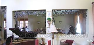 Wrought Iron Room Divider by Wrought Iron Window Treatments