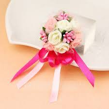 Wedding Wrist Corsage Pretty Hand Tied Foam Wrist Corsage Wrist Corsage 123127373