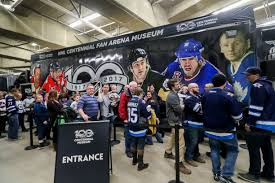 nhl centennial fan arena nhl centennial truck tour winnipeg photos and images getty images