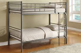 Columbia Full Over Full Bunk Bed by Furniture Silver Steel Full Bunk Beds With Stairs Having Grey