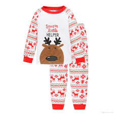 baby boys home clothes reindeer nightwear