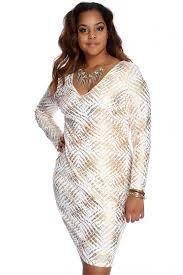 gold metallic pattern design plus size dress