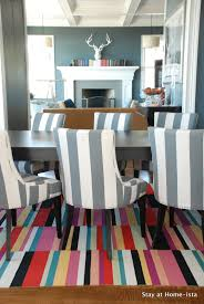 stay at home ista rainbow stripes for the dining room rug