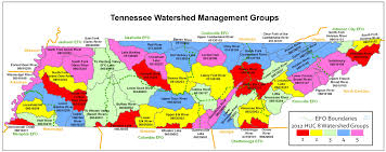 Kentucky Tennessee Map by Localwaters Tennessee Watershed Map Localwaters