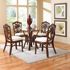 Black Round Dining Table And Chairs A R T Furniture Intrigue 5 Piece Glass Top Round Dining Set With