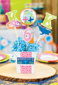 splashy u0026 colorful surfer birthday party hostess with the