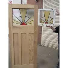 front door glass designs 1930 u0027s edwardian original stained glass exterior door sunburst