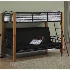 Metal Futon Bunk Beds Budget Wise Loft Bunk Beds With Sofa Futons Underneath