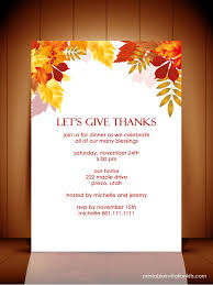 printable thanksgiving dinner invitations happy thanksgiving