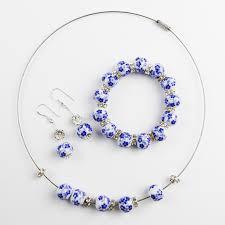 bracelet handmade jewelry images Blue and white porcelain ceramics handmade jewelry fashion pearl jpg