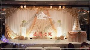 wedding backdrop wedding stage curtain with chagne swag wedding