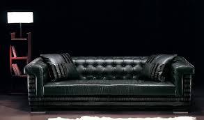 canap style chesterfield canapé de style chesterfield en cuir 3 places noir ascot