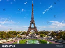 beautiful view famous eiffel tower paris stock photo 172292558