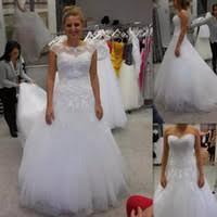 wholesale wedding dresses removable lace jacket buy cheap