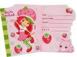 strawberry shortcake party invitations kids party supplies and