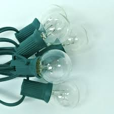 Plastic Globe String Lights G30 Globe String Lights Clear C7 Patio Lights