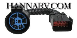 pollak stoneridge rv oem 7 way socket with 4 foot wiring harness