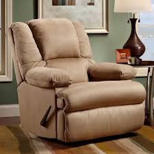 clayton padded suede recliner
