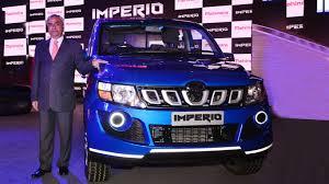 indian car mahindra mahindra launches its premium pick up u0027imperio u0027