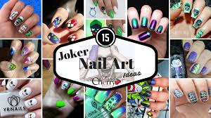 15 joker nail art ideas cherrycherrybeauty
