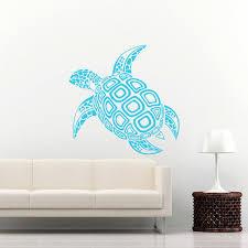 Sea Turtle Home Decor Sea Turtle Wall Decal Ocean Sea Animals Decals Wall Vinyl Sticker