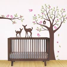 Bird Wall Decals For Nursery by Flower Tree Wall Decal With Birds And Deer