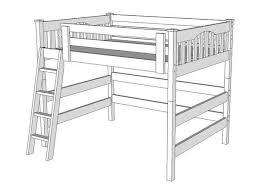 Bunk Bed Drawing L250 Loft Bed The Bunk Loft Factory