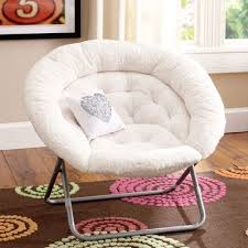 White Fluffy Chair Furniture Beautiful Blue Papasan Chair Feat Square Blue Cushions