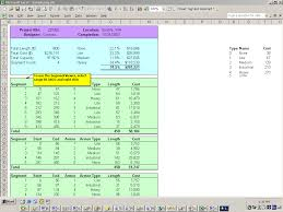 Project Spreadsheet Construction Project Spreadsheet Template
