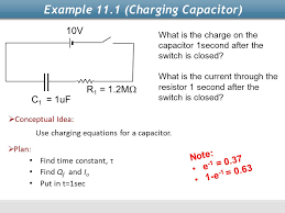 example 11 1 charging capacitor