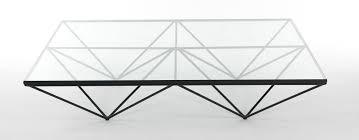 Metal Glass Coffee Table Paolo Piva Alanda For B U0026 B Italia Glass And Black Metal Coffee