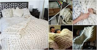 diy blanket wonderful diy knitted giant wool blanket using pvc pipe